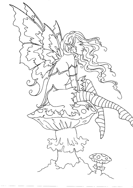 Amy Brown fairy coloring book Fairy Myth Mythical Mystical Legend ...