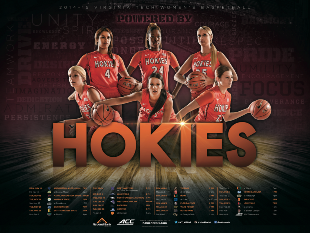 VA Tech WBB Basketball posters, Sport poster, Womens