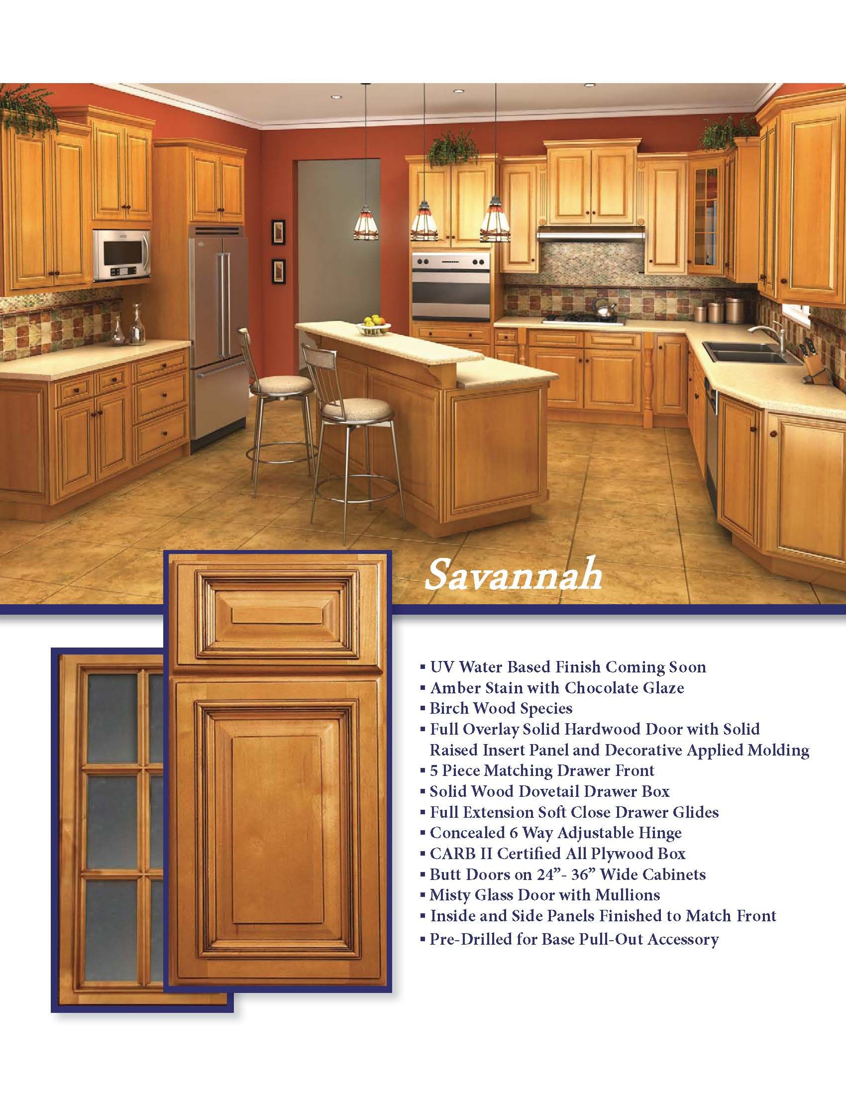 Instyle elegance with the savannah style rta kitchen cabinets