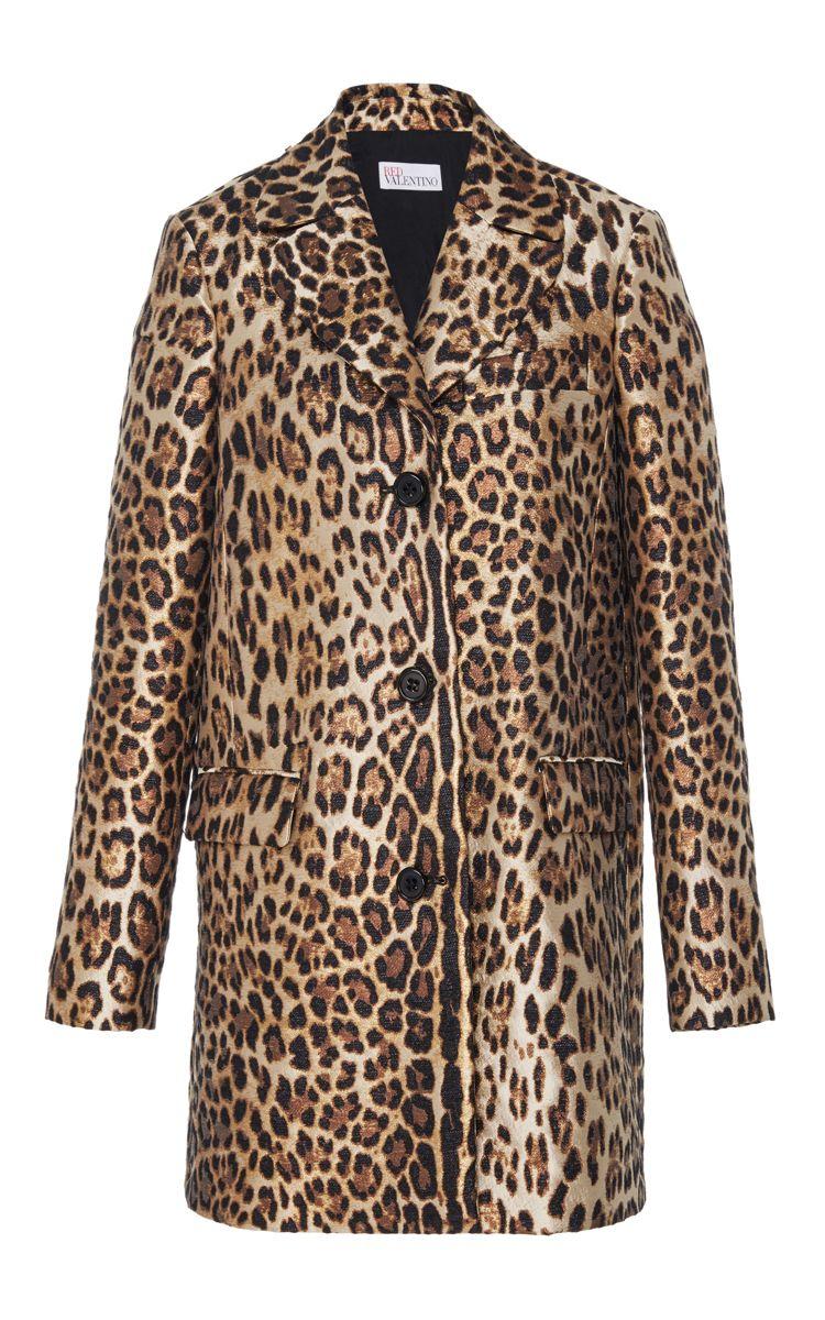 45515202315f RED VALENTINO Leopard Printed Coat. #redvalentino #cloth #coat Leopard Coat,  Red