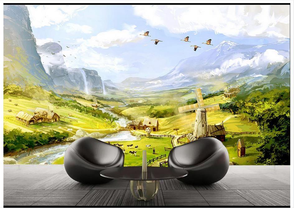 Custom High-end mural 3d wallpaper murals wall Rural European ...