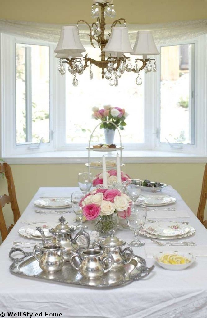 Afternoon Tea Table Setting Table Decoration Ideas  sc 1 st  Pinterest : tea table setting ideas - pezcame.com