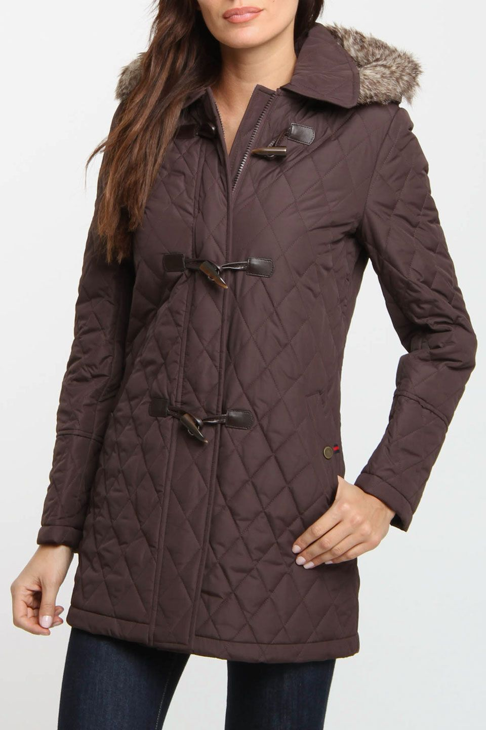 Tommy Hilfiger Glenn Quilted Coat In Chocolate My style