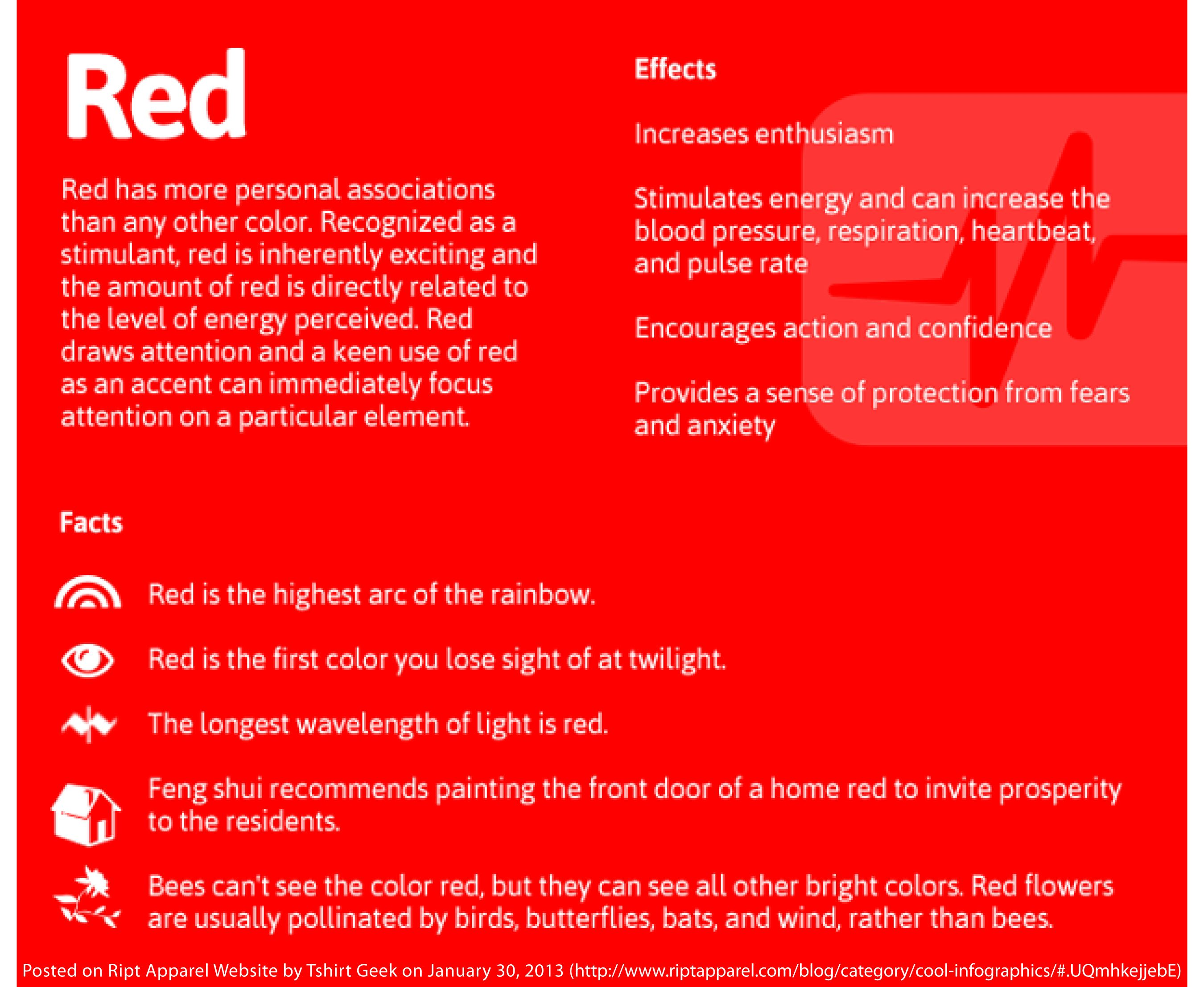Color Effects : Red | Woah | Pinterest | Feng shui and Colour psychology