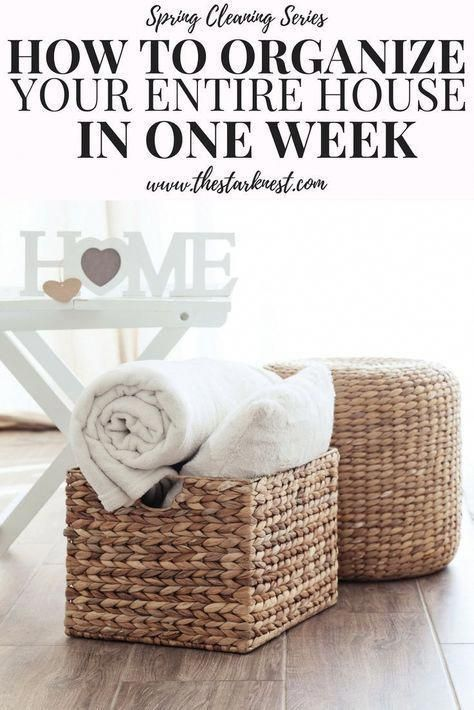 How to Declutter Your Entire House in One Week #summerhomeorganization