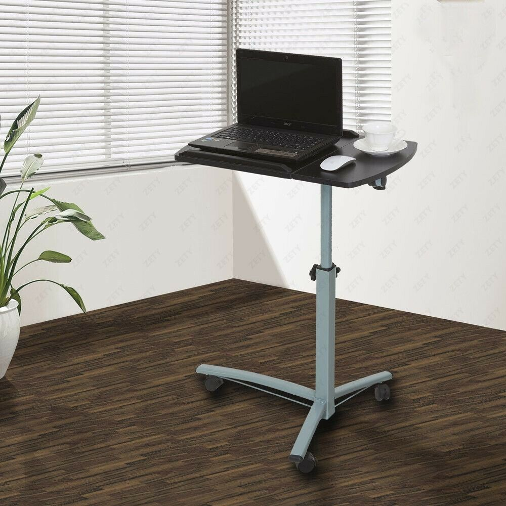 Mobile Laptop Desk Cart Stand Adjustable Computer Laptop