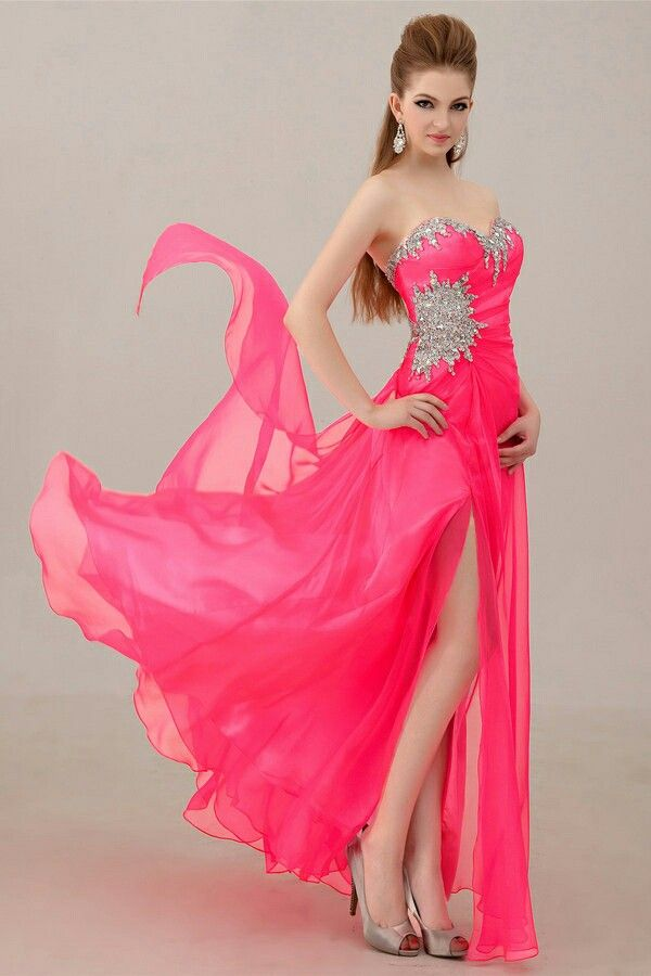 Pretty coral dress! Love the bling xD | Prom Dresses | Pinterest ...