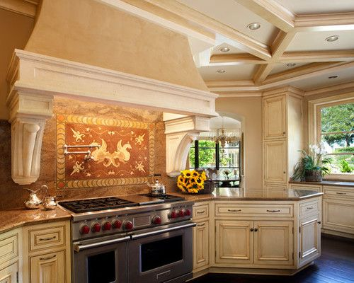 A Large Tuscan Style Kitchen Was Given A Fresh Update Newly
