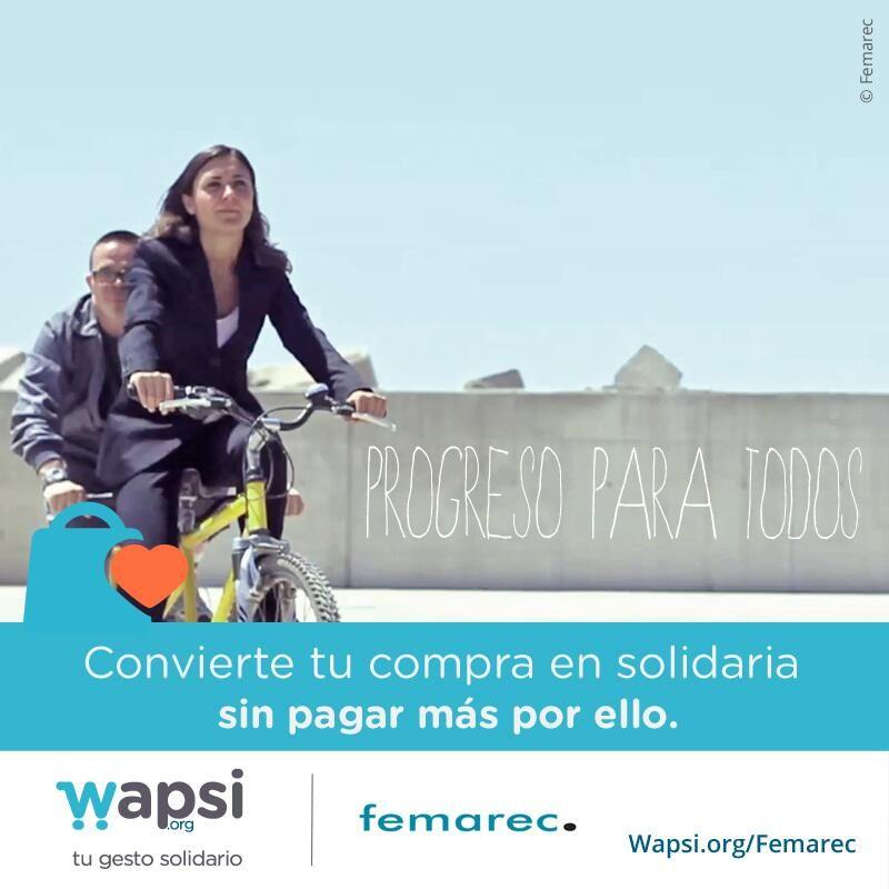 Compras online? Por la inserción laboral y cultural de la #disCAPACIDAD colabora @femarec vía http://Wapsi.org/Femarec! pic.twitter.com/uOL01RbsJ1