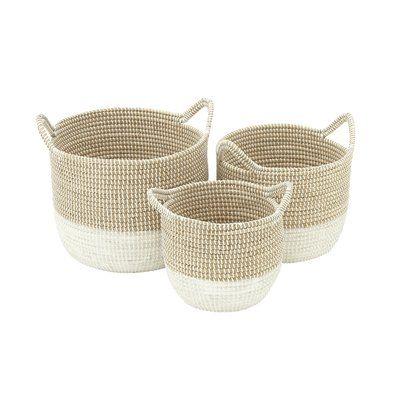 3 Piece Seagrass Basket Set