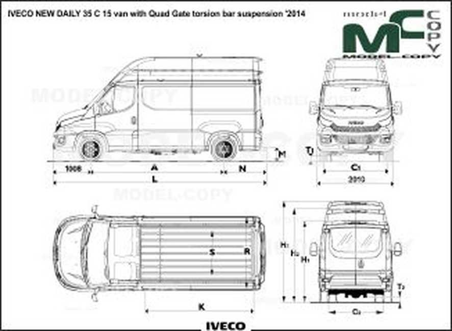IVECO NEW DAILY 35 C 15 van with Quad Gate torsion bar