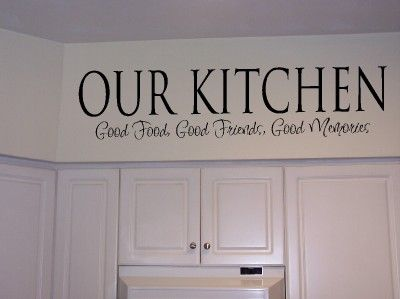 Kitchen Wall Quotes Vinyl Wall Lettering Kitchen Food Quote - Vinyl decals for kitchen walls