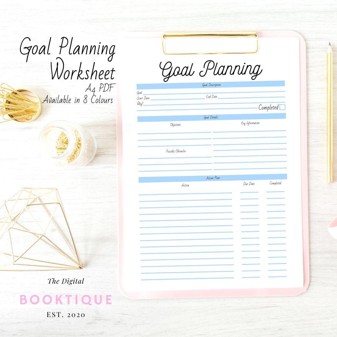 Goal Planning Worksheet Small Business Planner Digital