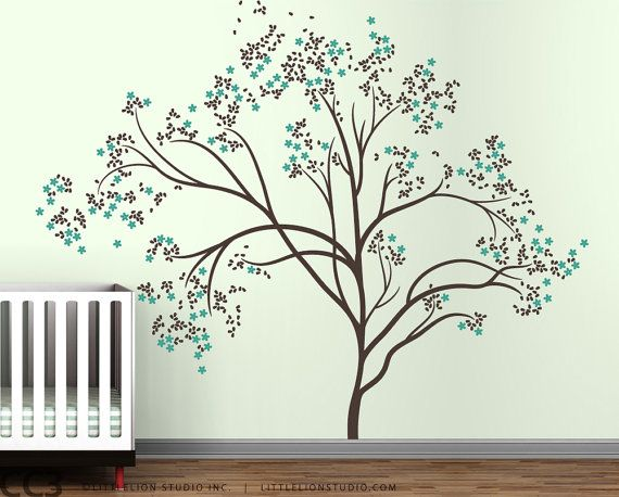 Tree Wall Decal Blossom Tree Extra Large By LeoLittleLion