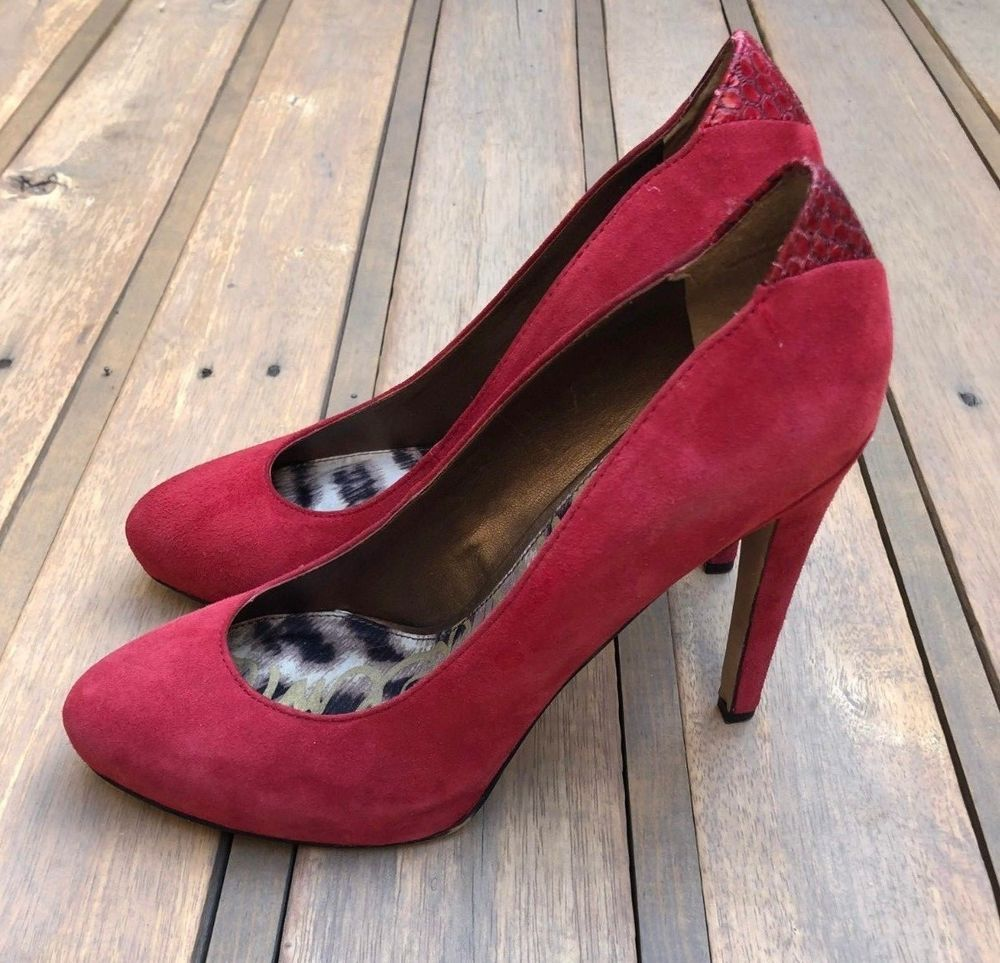 77ab37e036a115 Sam Edelman Yasmine Red Suede Leather Heels Pumps Women s Size 7.5 7 1 2 M   fashion  clothing  shoes  accessories  womensshoes  heels (ebay link)