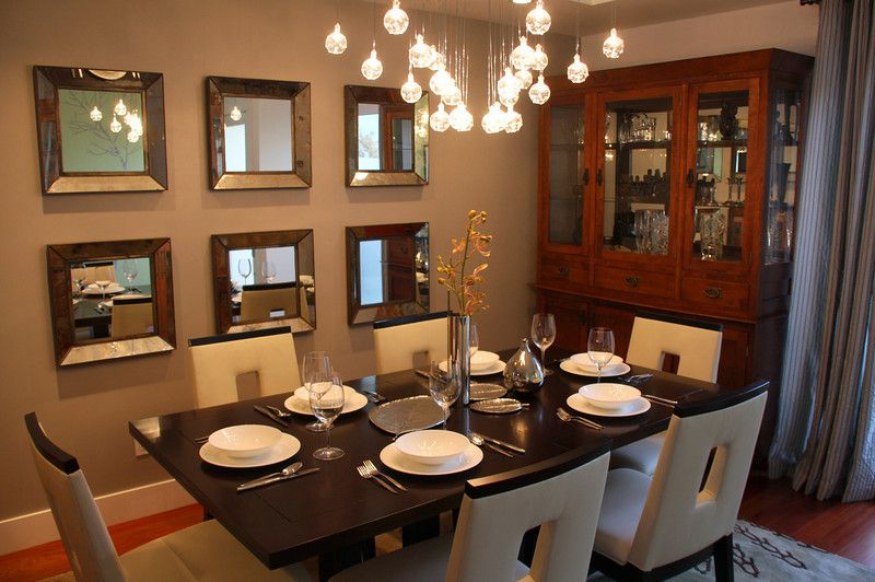 Have A Wall Mirror To Reflect The Food Off Dining Table As This Doubles Your Good Fortune Also Room Deeper Into Home