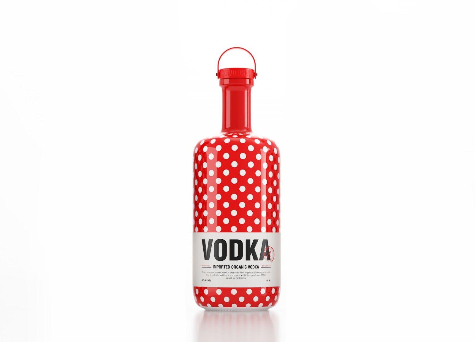 Vodka Dot Concept Vodka Packaging Vodka Alcohol Packaging Design