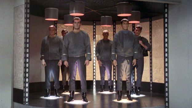 la teletransportacion desde la Enterprise.