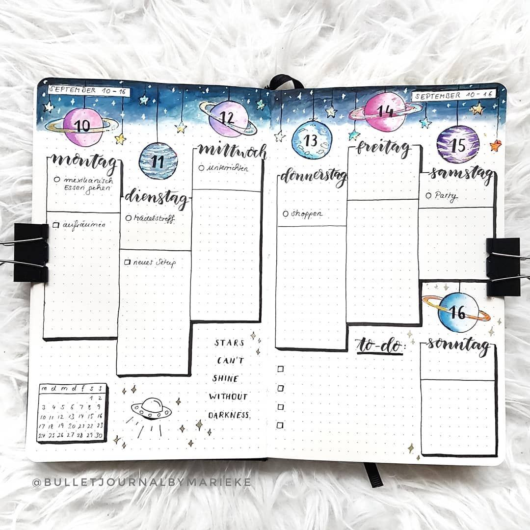 "Marieke on Instagram: ""Here's the desired weekly! I also filled in a few things... my QOD is: do you also want to see the filled in spreads? � have a gorgeous…"""