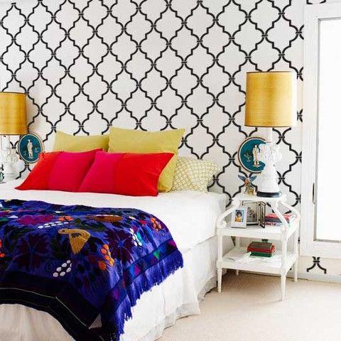 Casablanca Trellis Moroccan Wall Stencil. Allover Moroccan Wall Stencils | Royal Design Studio