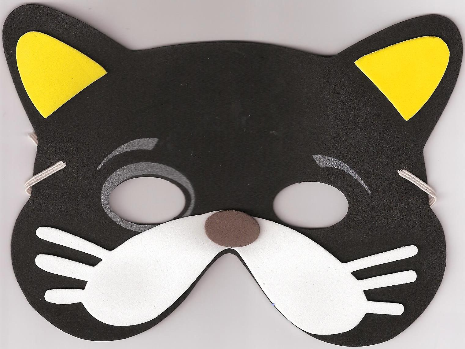 Diy party costume mask black cat kitten template printable - Make Your Own Cat Mask Craft