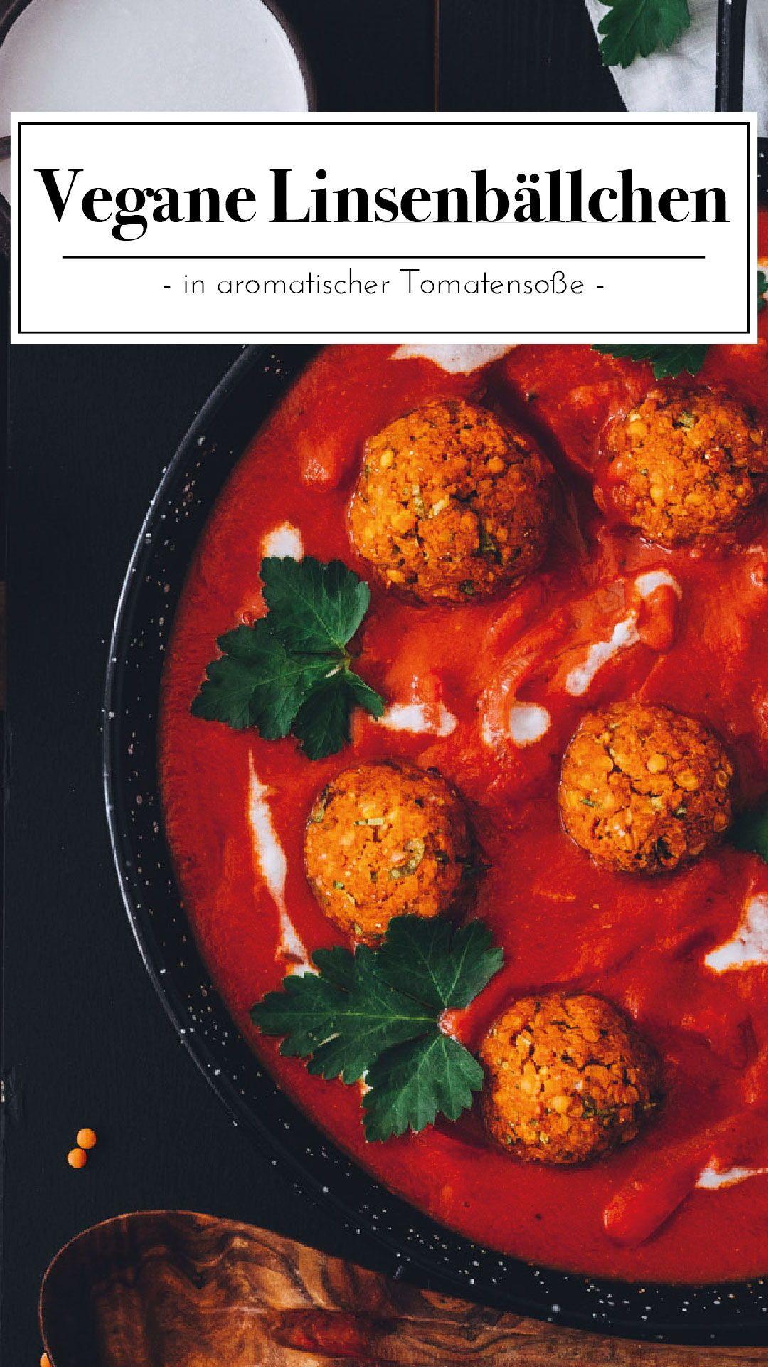 Linsenbällchen in Tomatensoße #easydinnerrecipes