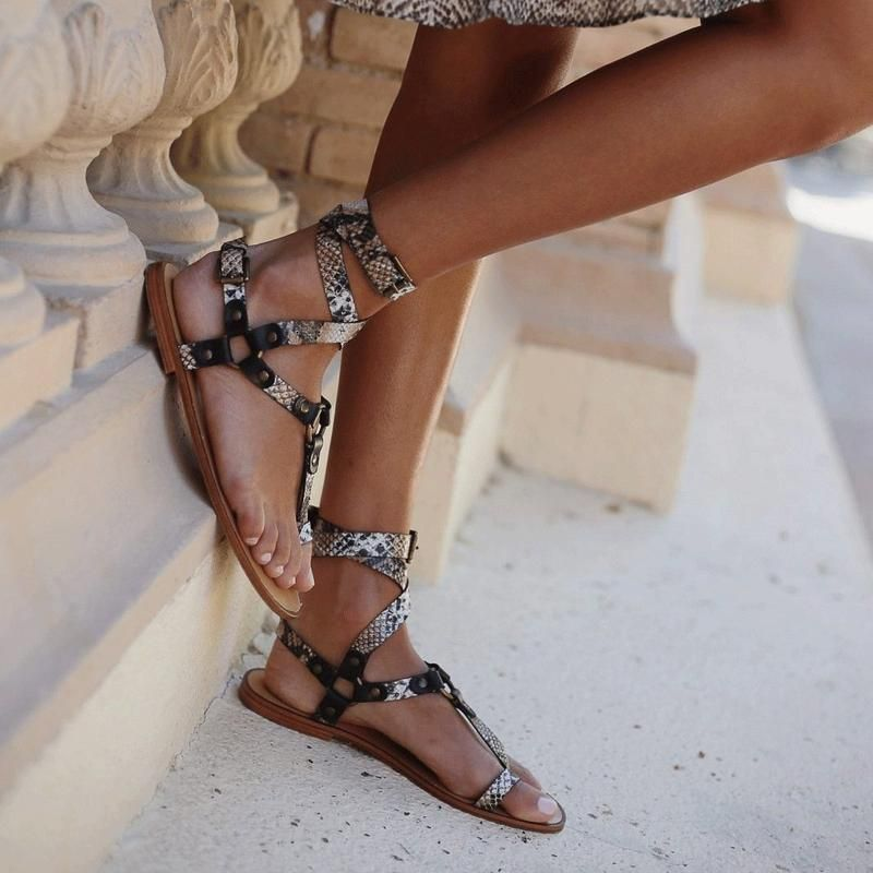 Womens sandals flat, Ankle strap flats