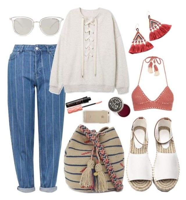 """Coastal vibes"" by kristinpalm on Polyvore featuring Michael Kors, Topshop, Guanábana, Talitha, SHE MADE ME and Benefit"