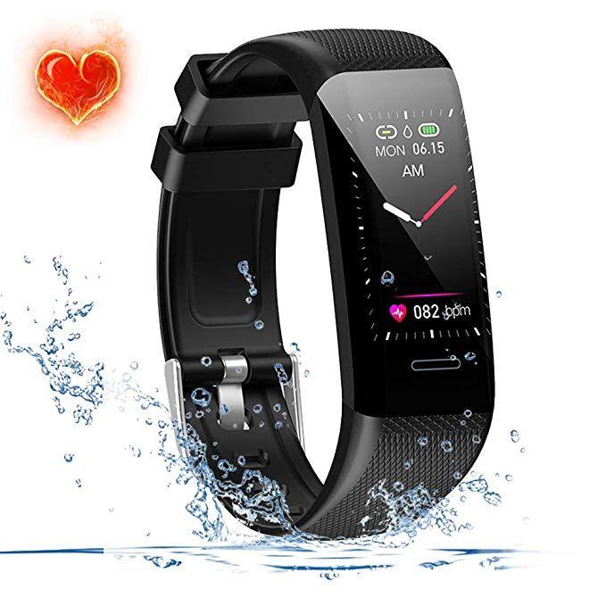 Fitness Tracker Waterproof(IP67) Fitness Watch with Heart