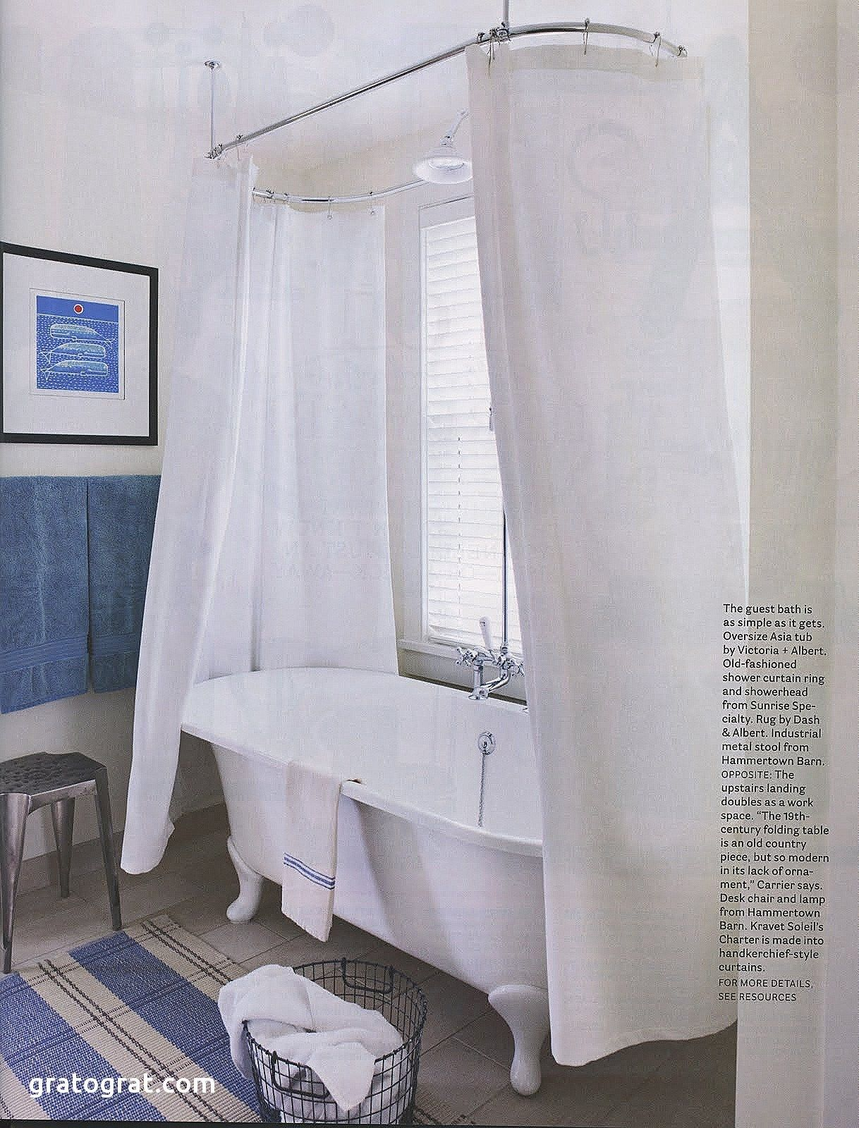 New Clawfoot Tub Shower Curtain Liner