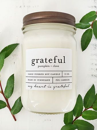 pumpkin and clove hand poured soy candle
