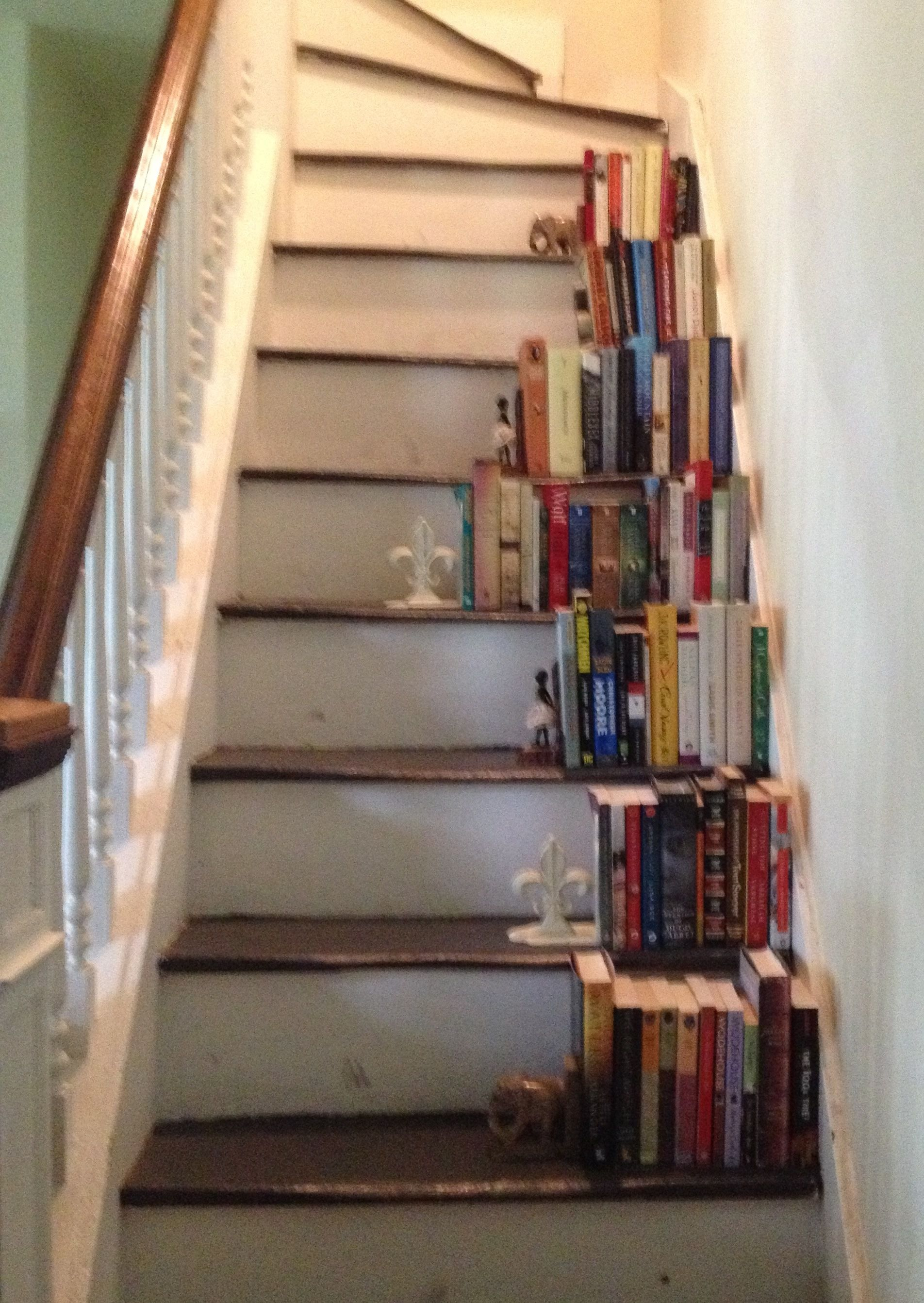 Stair Bookshelf stairs-bookcase-side- | attic | pinterest | attic and interiors