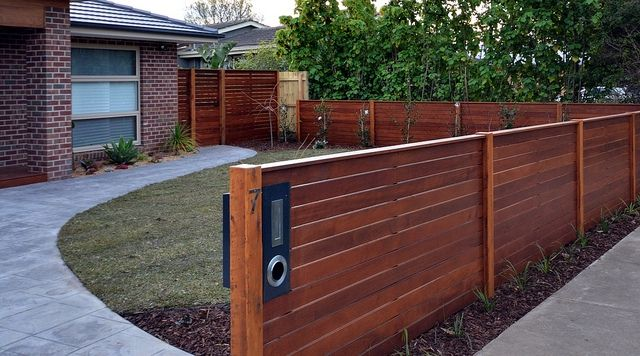 Letterbox In Timber Fence Front Yard Fence Fence Design