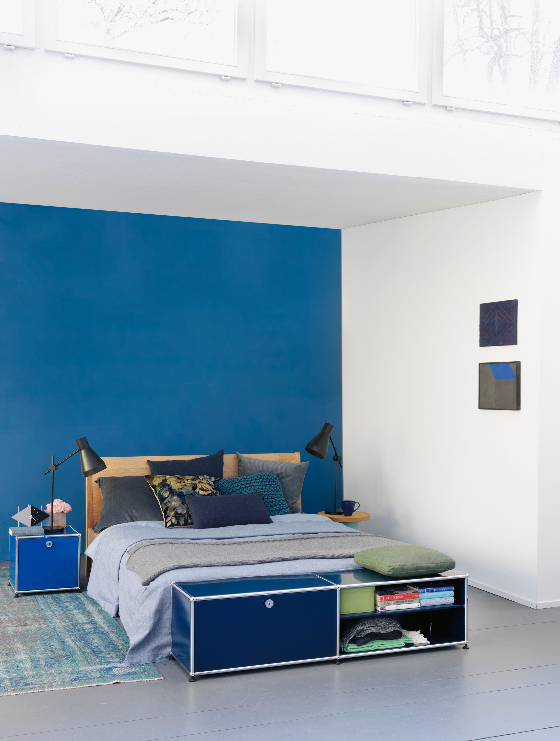 Usm Regale Inspirations Déco Mobilier Usm Haller Coloris Bleu Bedroom