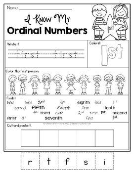Ordinal Numbers Printables Activities Ordinal Numbers Writing Practice Teaching Math