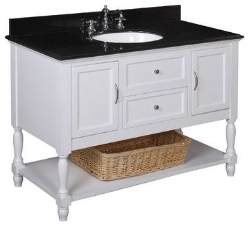 2c92dea4e4a Beverly 48-in Bath Vanity (Black White) traditional bathroom vanities and  sink consoles