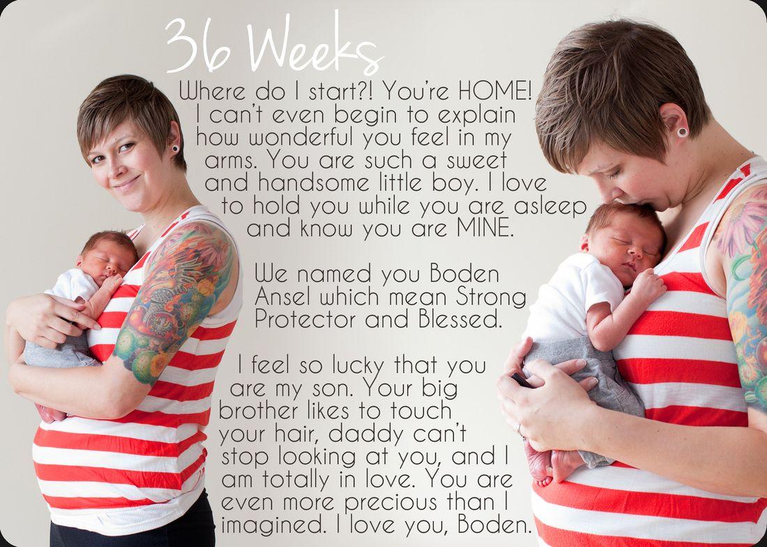 36 Weeks/Baby BIRTH! | Pregnancy Progression Photography | Baby
