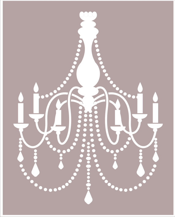 Chandelier stencil available in 6 sizes by superiorstencils chandelier stencil available in 6 sizes by superiorstencils mozeypictures Images