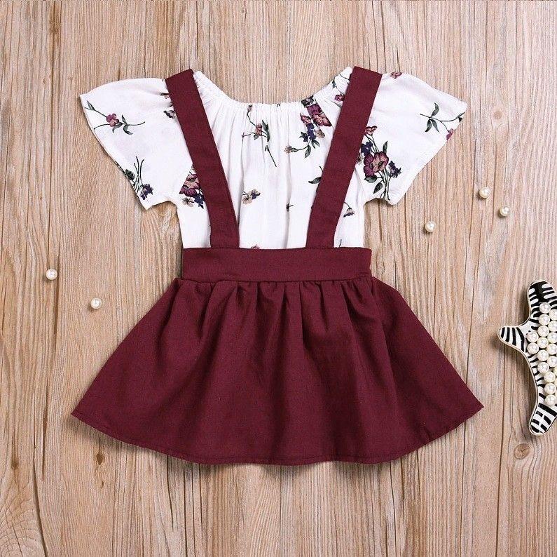 791543b2f924 Short Sleeves Baby Girl Set White Romper Burgundy Skirt 100% Cotton   bemyberry1  baby  babyclothes  babyshower  babyfever  babygirl  babyset   burgundy ...