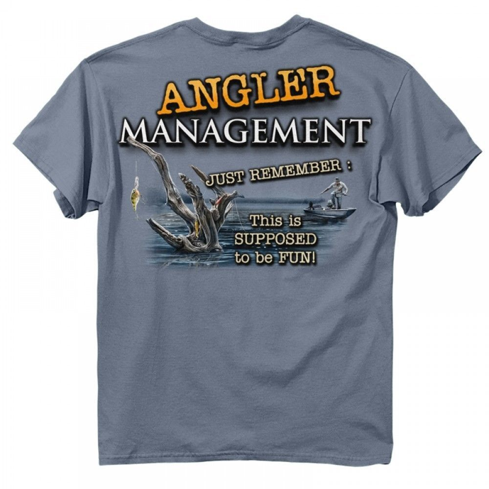 New angler management fish t shirt new fishing shirt for Funny fishing t shirts