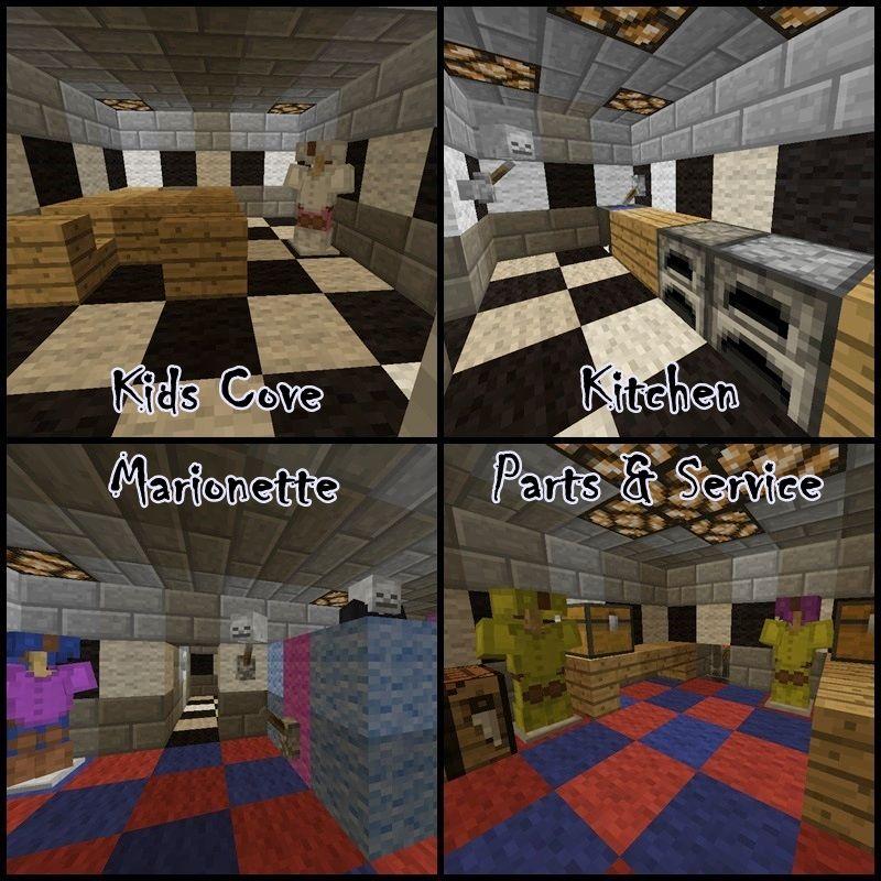 Minecraft Kitchen Ideas: Minecraft FNAF Kids Cove Kitchen Marionette Parts