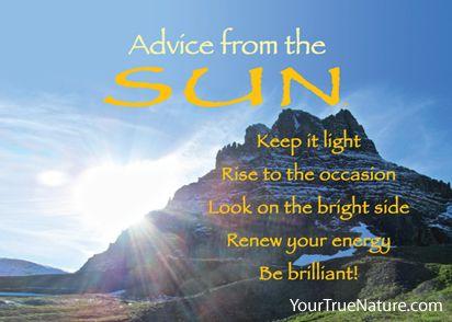 Advice from the Sun Glacier National Park Good
