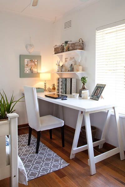 Garden and home four great ideas for offices also fabulous  office in the bedroom rh pinterest