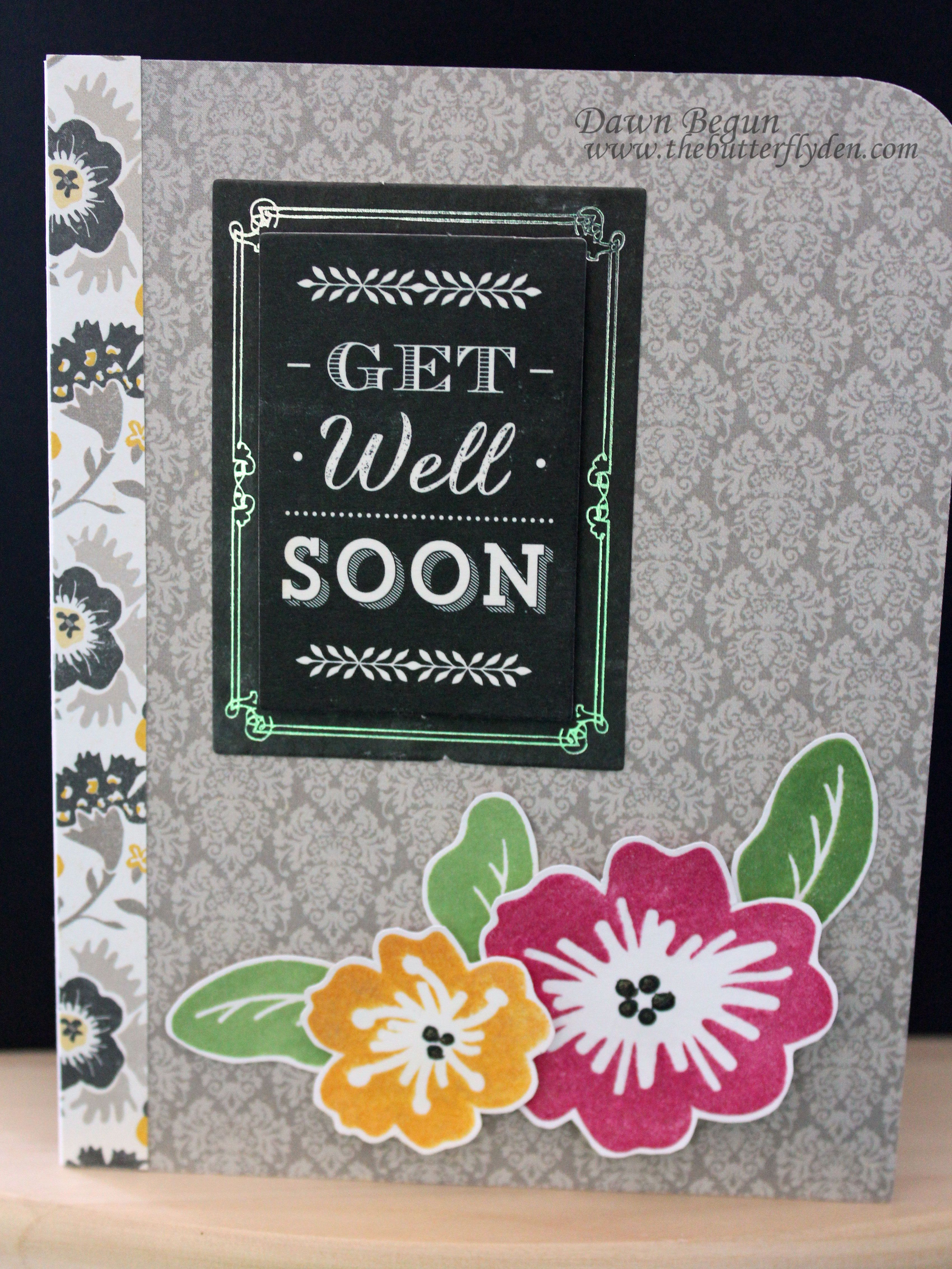 Simon Says Stamp Card Kit - Get Well Soon