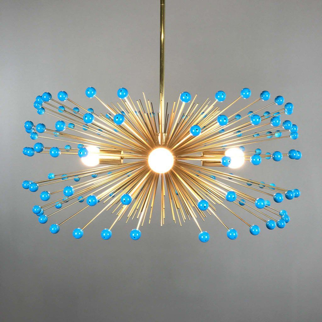 turquoise chandelier lighting. Adorned With Colorful Acrylic Beads, The Color Pop Gold Beaded Urchin Chandelier Is Perfect Modern Statement Piece That Pops Against Any Background. Turquoise Lighting L