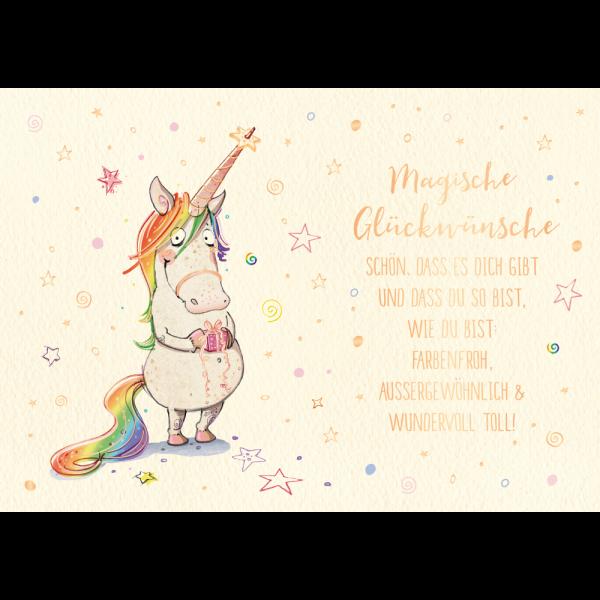 Süß! Magische Glückwünsche! 🙂
