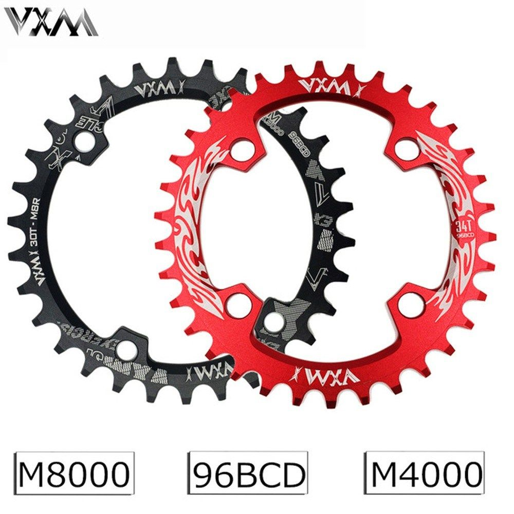 Vxm 96bcd Bicycle Chainring 30t 32t 34t 36t 38t Narrow Wide Round