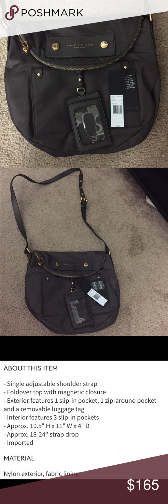 Marc Jacobs Crossbody Marc Jacobs cross-body NWT color faded aluminum serious inquiries only payment excepted paypal Marc Jacobs Bags Crossbody Bags