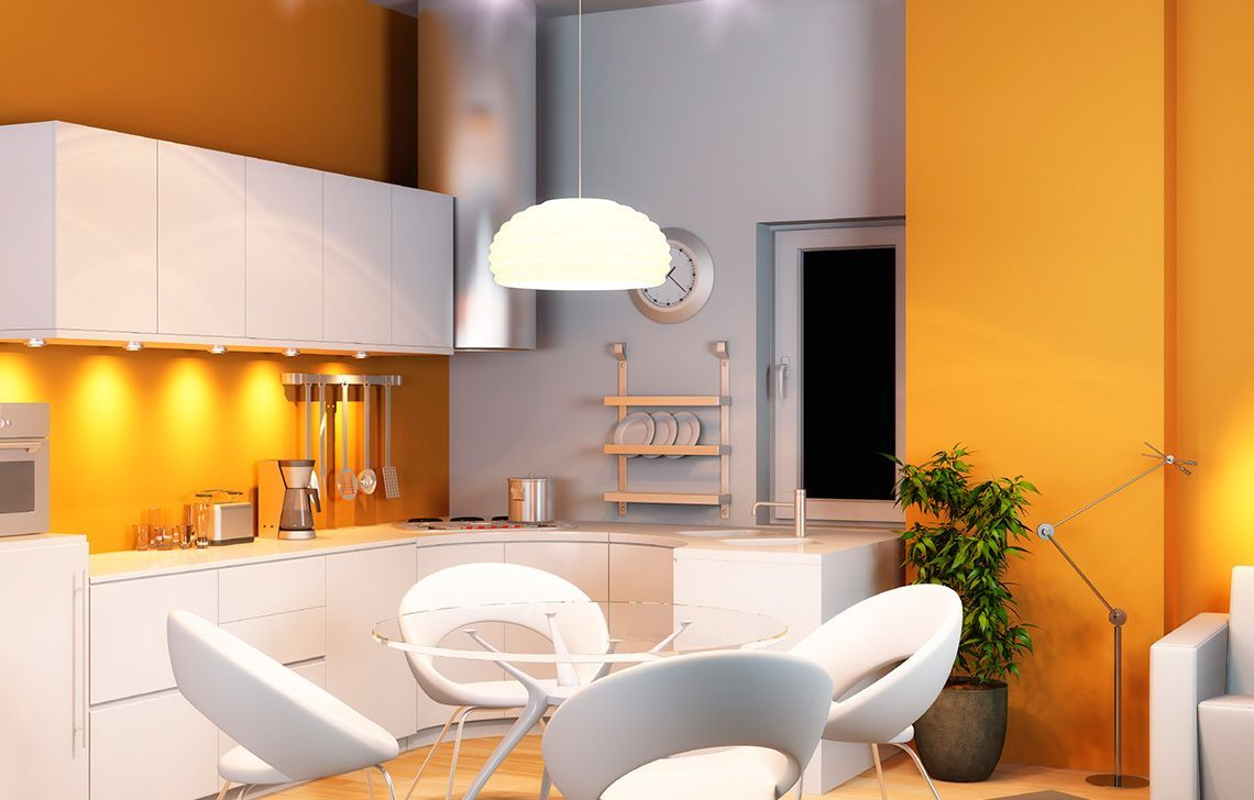 Pin by harish on wall colour | Sleek kitchen, Home decor ...