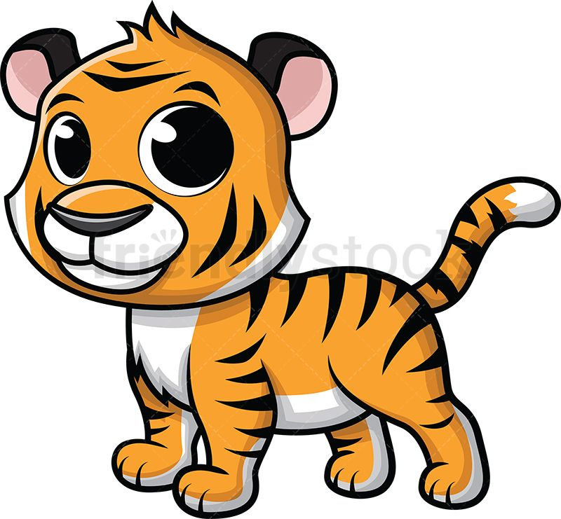 Cute Baby Tiger Cartoon Vector Clipart Friendlystock Zebra Cartoon Cartoons Vector Baby Zebra